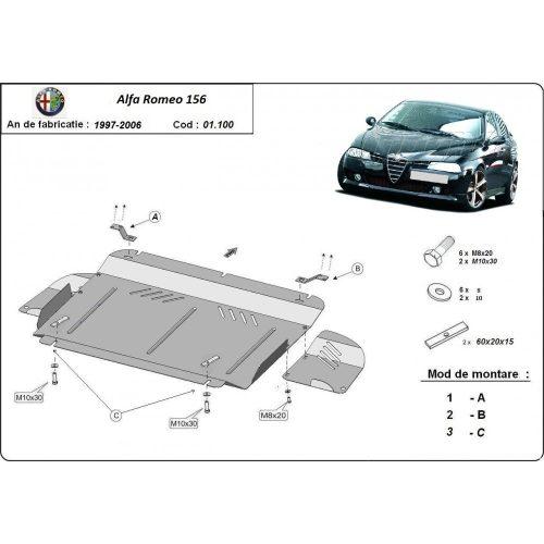 Alfa Romeo 156, 1997-2003 - Acél Motorvédő lemez