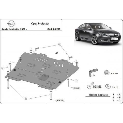 Opel Insignia, 2009-2017 - Acél Motorvédő lemez