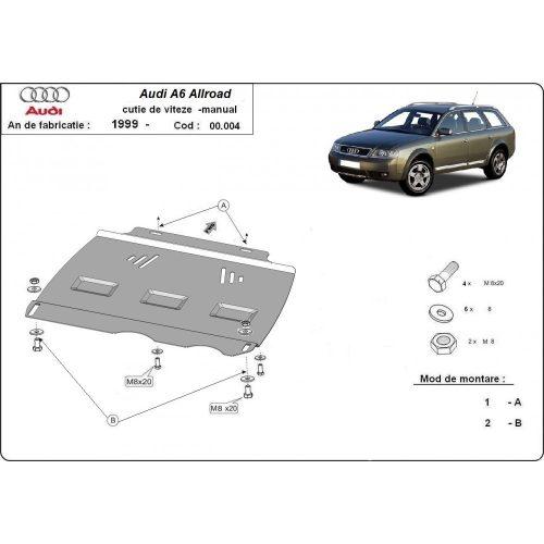 Audi Allroad 2000-2005 - Acél MANUÁL váltóvédő lemez