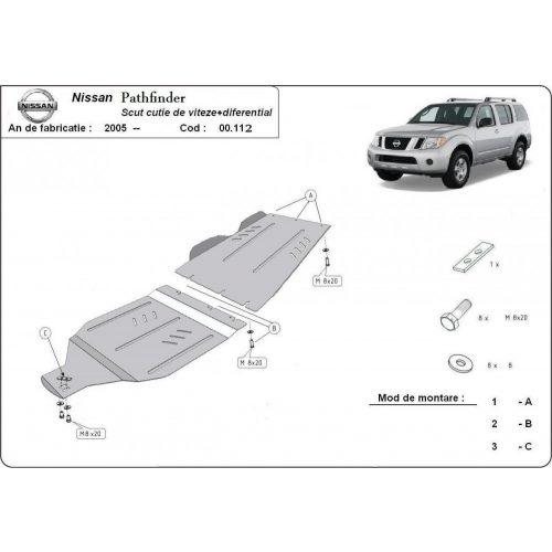 Nissan Pathfinder, 2005-2015 - Váltó + Differenciálmű védő