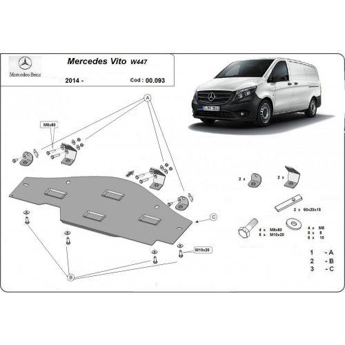 Mercedes Vito W447, 2014-2020 - Acél RWD, Stop & Go védelem