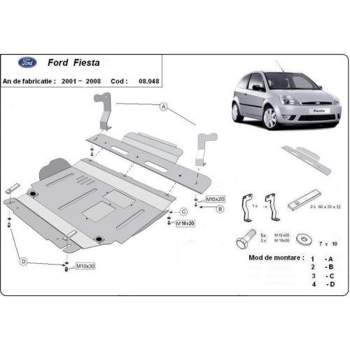 Ford Fiesta, 2001-2008 - Acél Motorvédő lemez