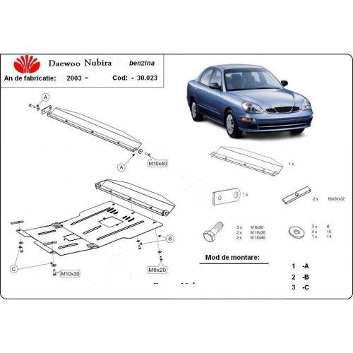 Daewoo Nubira II, 2003-2020 - Acél Motorvédő lemez