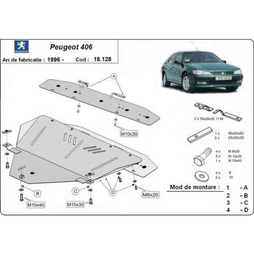 Peugeot 406, 1996-2004 - Motorvédő lemez
