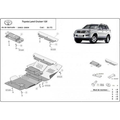Toyota Land Cruiser 120, 2002-2009 - Motorvédő lemez