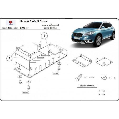 Suzuki SX4 -S-Cross, 2013-2020 - Acél 4X4 Differenciálmű védő lemez