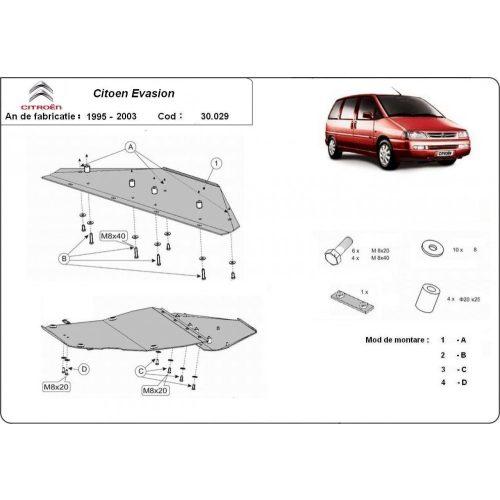Citroen Evasion, 1995-2003 - Motorvédő lemez