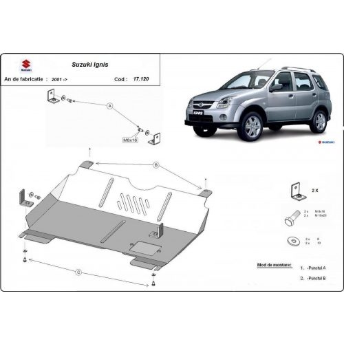 Suzuki Ignis 2001-2016 - Motorvédő lemez