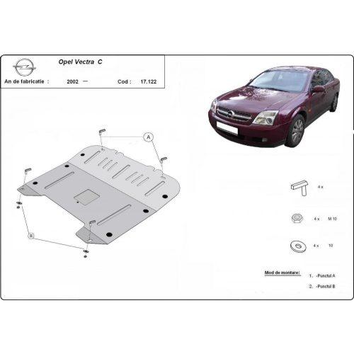 Opel Vectra C, 2002-2020 - Acél Motorvédő lemez