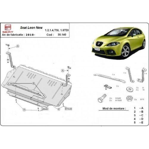 Seat Leon, 2010-2012 - Acél Motorvédő lemez
