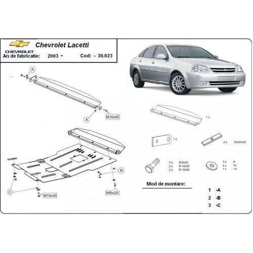 Chevrolet Lacetti, 2004-2020 - Motorvédő lemez