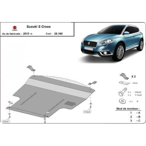 Suzuki SX4 -S- Acél Cross, 2013-2020 - Acél Motorvédő lemez