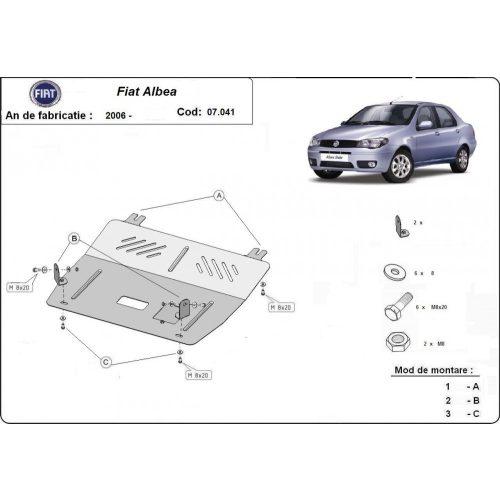 Fiat Albea, 2006-2020 - Motorvédő lemez