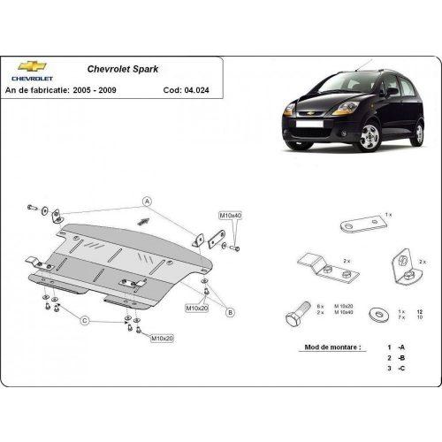 Chevrolet Spark, 2005-2009 - Motorvédő lemez