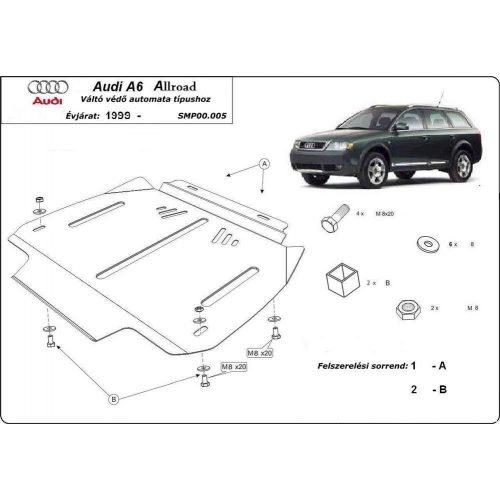 Audi Allroad 2000-2005 - Acél AUTOMATA váltóvédő lemez