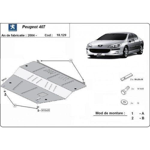 Peugeot 407, 2004-2020 - Motorvédő lemez