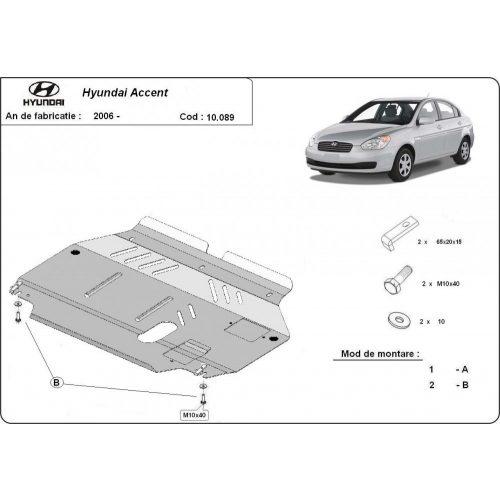 Hyundai Accent, 2005-2010 - Acél Motorvédő lemez