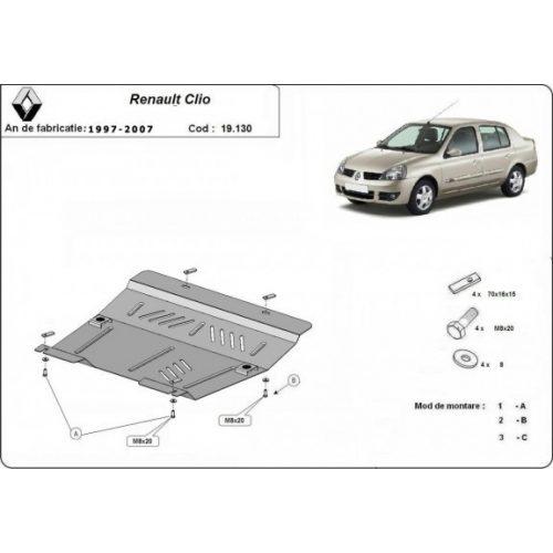 Renault Clio, 1997-2007 - Motorvédő lemez