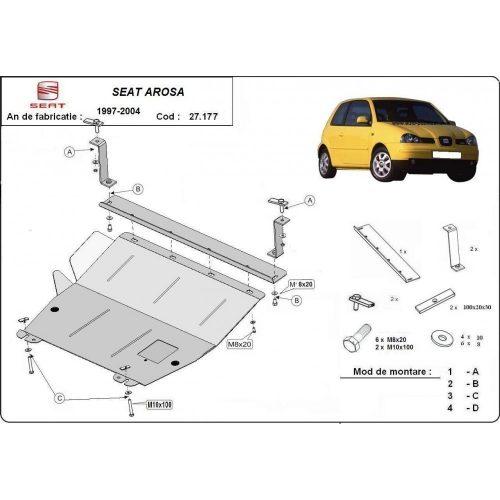 Seat Arosa, 1997-2004 - Motorvédő lemez