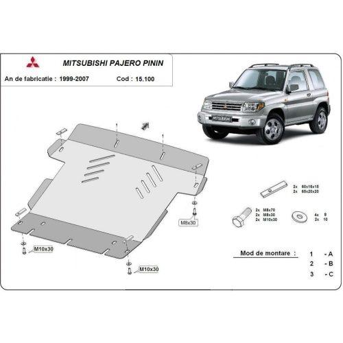 Mitsubishi Pajero Pinin, 1997-2007 - Acél Motorvédő lemez