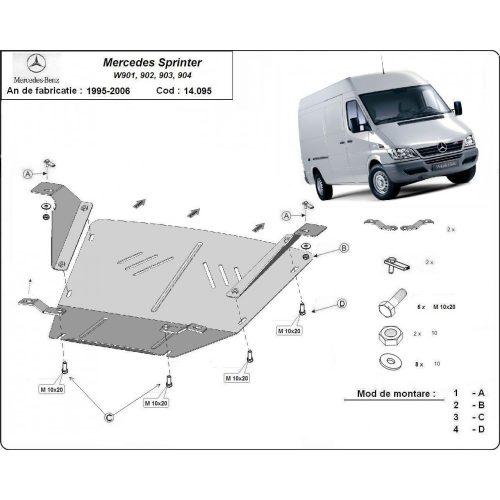 Mercedes Sprinter, 1995-2006 - Acél Motorvédő lemez