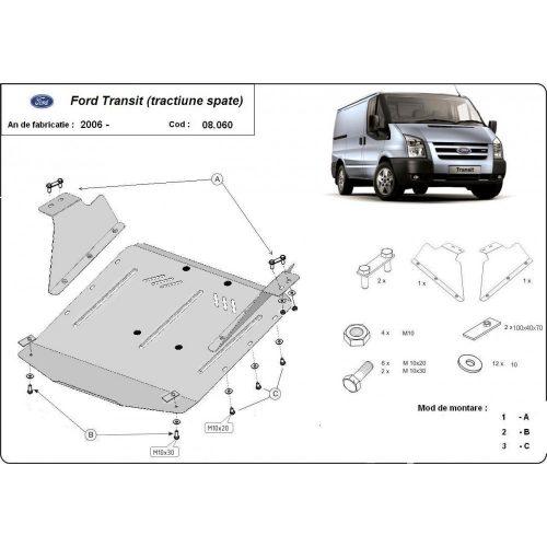 Ford Transit, (RWD)  2007-2013 - Motorvédő lemez