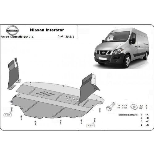 Nissan Interstar, 2010-2020 - Motorvédő lemez