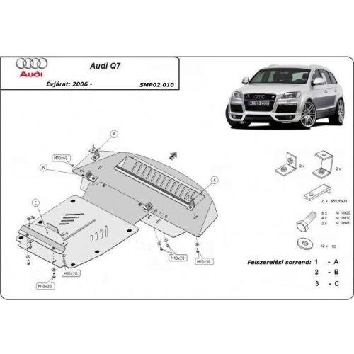 Audi Q7, 2006-2015 - Acél Motorvédő lemez