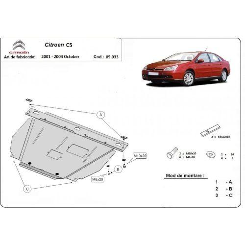 Citroen C5, 2001-2004 - Acél Motorvédő lemez
