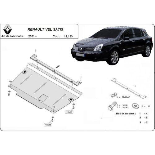 Renault Vel Satis 2001-2007 - Acél Motorvédő lemez