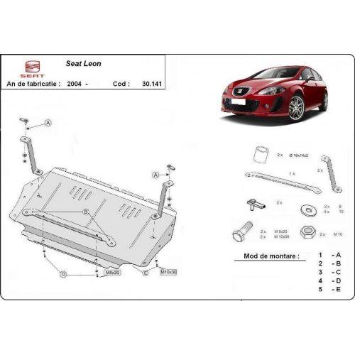 Seat Leon, 2004-2010 - Motorvédő lemez