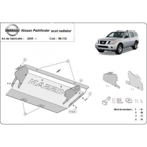 Nissan Pathfinder, 2005-2015 - Acél Hűtővédő lemez