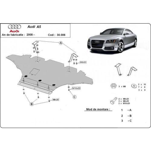 Audi A5, 2008-2018 - Acél Motorvédő lemez