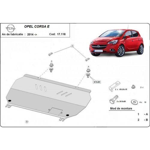 Opel Corsa E, 2014-2020 - Motorvédő lemez