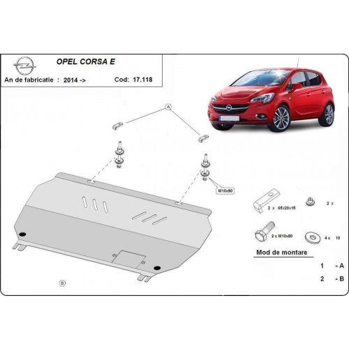 Opel Corsa E, 2014-2020 - Acél Motorvédő lemez