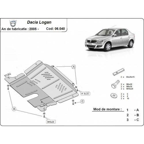 Dacia Logan 2005-2012 - Motorvédő lemez