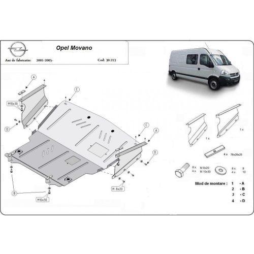 Opel Movano, 1998-2010 - Motorvédő lemez