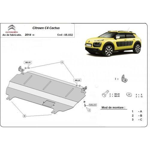 Citroen C4 Cactus, 2014-2020 - Motorvédő lemez