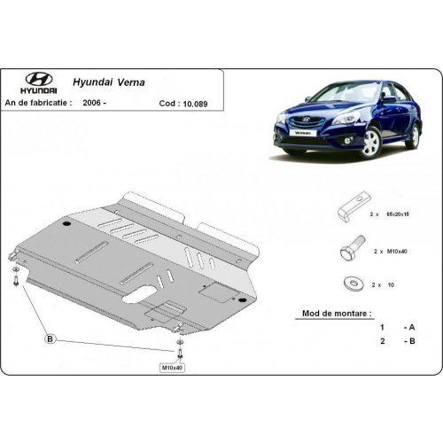 Hyundai Verna, 2005-2010 - Acél Motorvédő lemez
