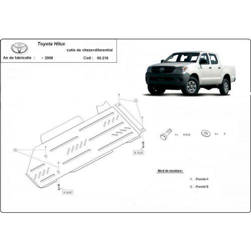 Toyota Hilux I ,2000-2004 - Váltó + Differenciálmű védő