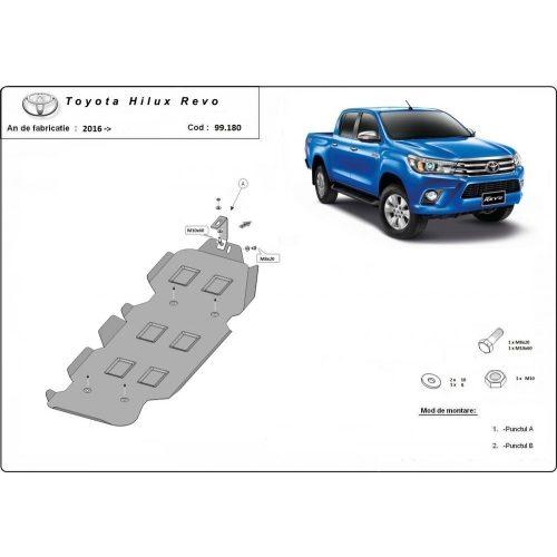 Toyota Hilux Revo, 2016-2020 - Acél Üzemanyagtank védő