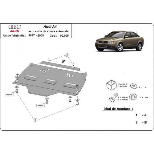 Audi A4, 2000-2005 - Acél Automata váltóvédő lemez