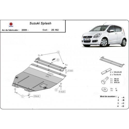 Suzuki Splash, 2009-2020 - Acél Motorvédő lemez