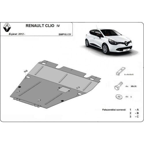 Renault Clio IV, 2012-2020 - Acél Motorvédő lemez