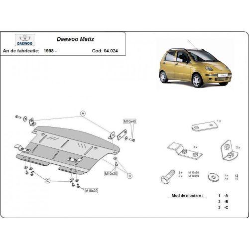 Daewoo Matiz, 1998-2020 - Motorvédő lemez
