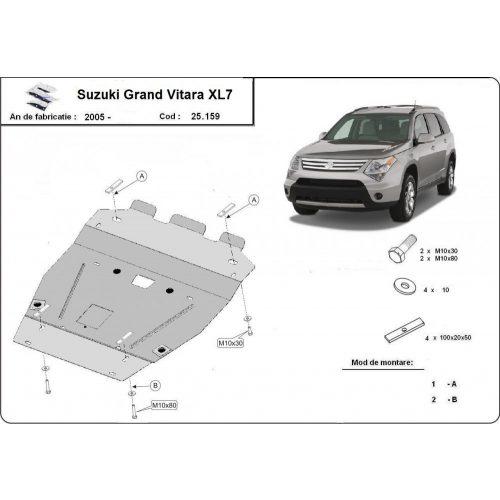 Suzuki Grand Vitara XL7, 2005-2018 - Acél Motorvédő lemez
