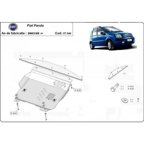 Fiat Panda, 2006-2012 - Acél Motorvédő lemez