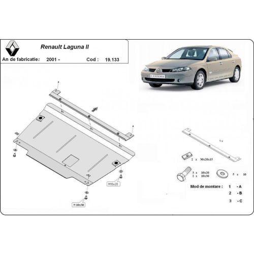 Renault Laguna, 2001-2007 - Acél Motorvédő lemez