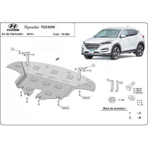 Hyundai Tucson, 2015-2020 - Motorvédő lemez