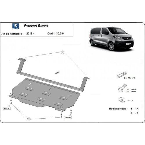 Peugeot Expert Kisteherautó, 2016-2020 - Acél Motorvédő lemez